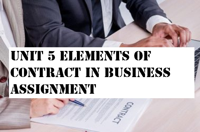 Unit 5 Elements Contract Business Assignment
