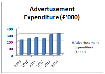 Advertisement Expenditure -  Assignment Help UK