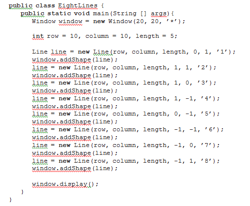 Eight Lines program