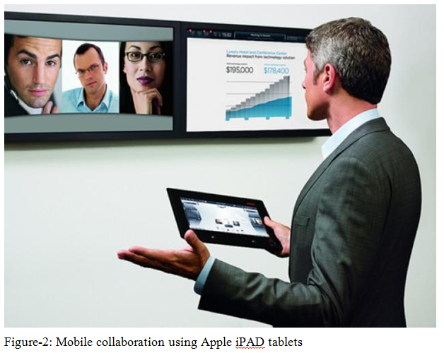 Mobile collaboration using Apple iPAD tablets