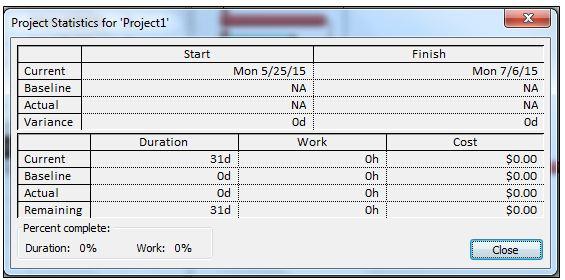 preparing a schedule