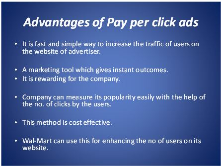 advantages of pay per click