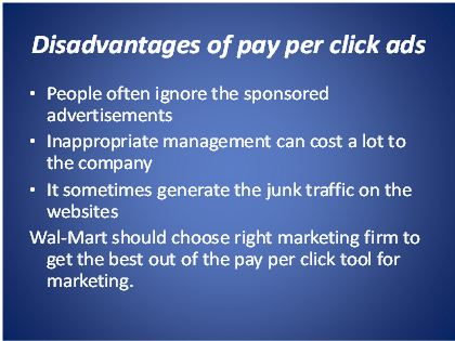 disadvantages of pay per click