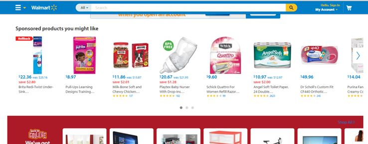 Website of Walmart