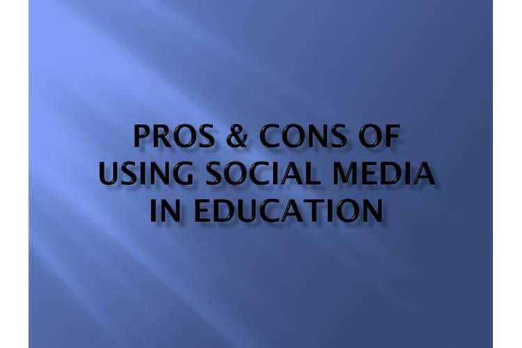 Pros and Cons of Social Media in Education