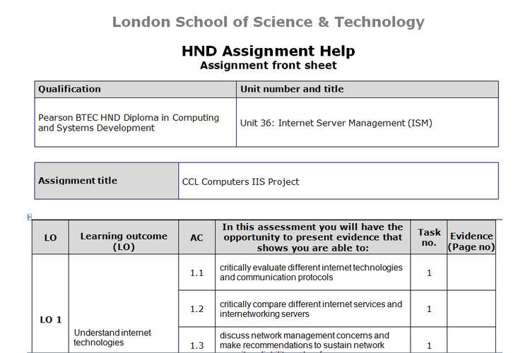Unit 36 Internet Server Management  Sample Assignment