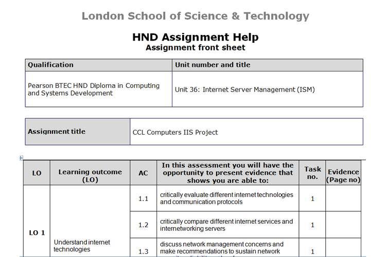 Unit 36 Internet Server Management  Sample Assignment