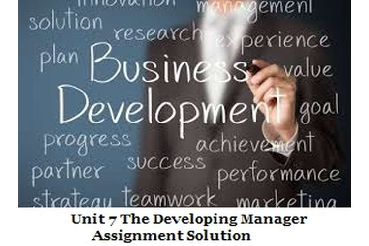 Unit 7 The Developing Manager Assignment Solution
