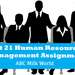 Unit 21 Human Resource Management Assignment ABC Milk World