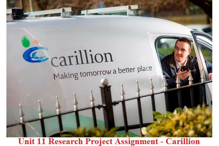 Unit 11 Research Project Assignment - Carillion