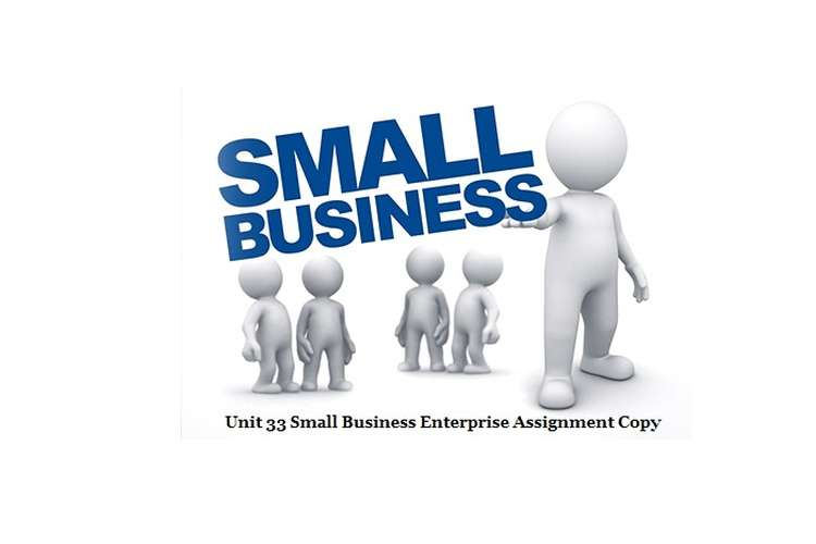 Unit 33 Small Business Enterprise Assignment Copy