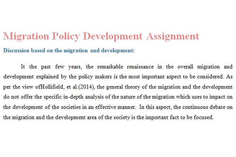 Migration Policy Development Assignment