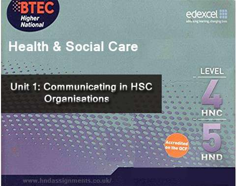 Communicating in HSC Organisations