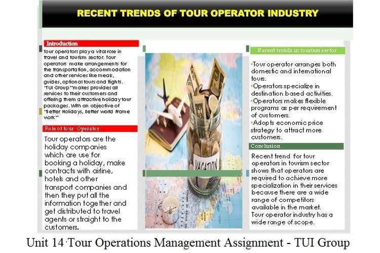 Unit 14 Tour Operations Management Assignment - TUI Group