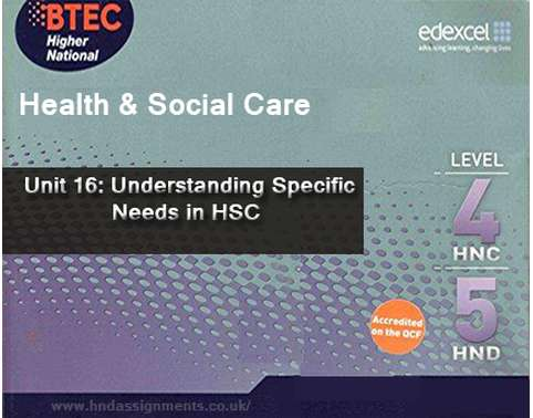 understanding specific needs in health and social care