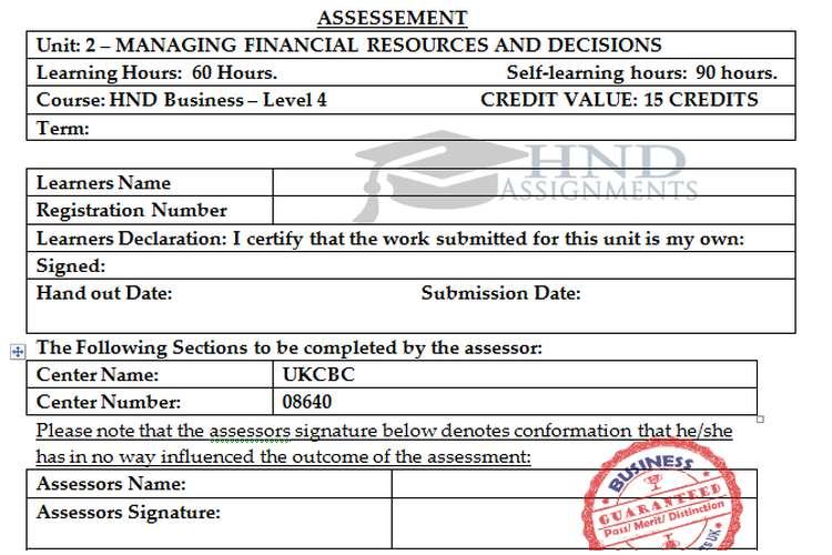 Unit 2 MFRD Assignment Brief