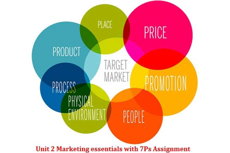 Unit 2 Marketing essentials with 7Ps Assignment