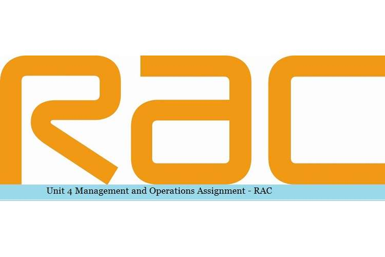 Management and Operations Assignment - RAC