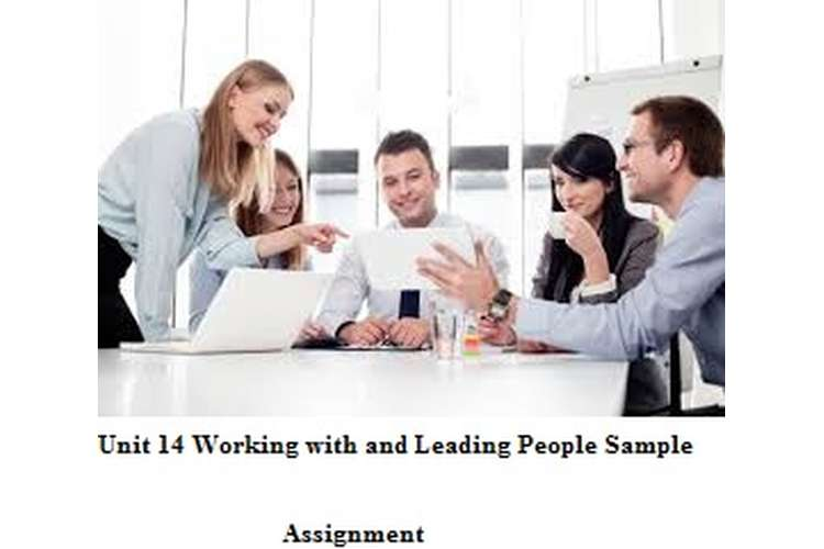 Unit 14 Working with and Leading People Sample Assignment