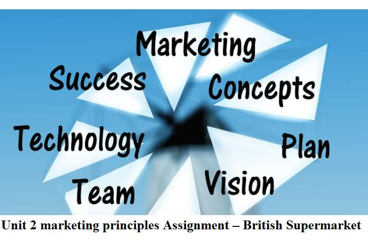 Unit 2 Marketing principles Assignment – British Supermarket