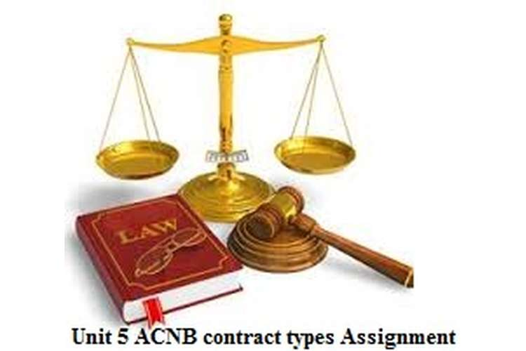 Unit 5 ACNB contract types Assignment