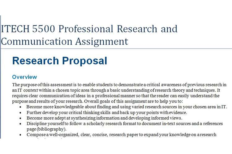 ITECH 5500 Professional Research Communication Assignment
