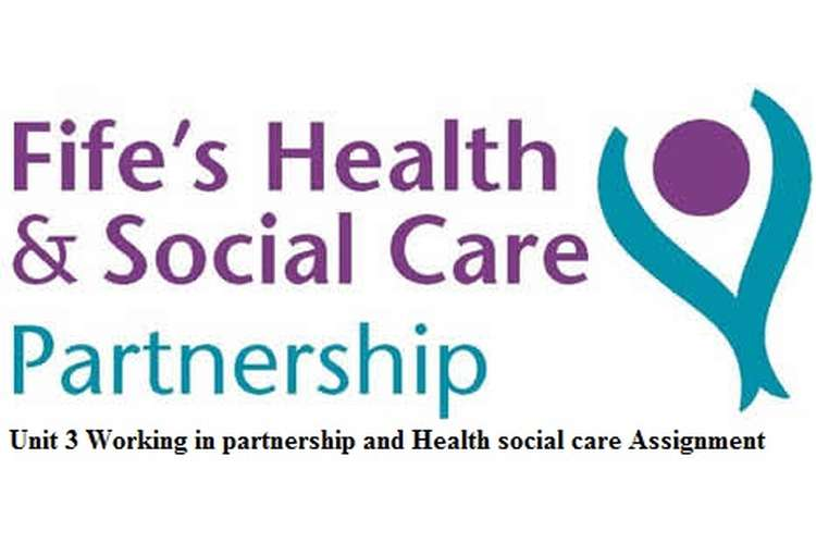 Unit 3 Working in partnership and Health social care Assignment
