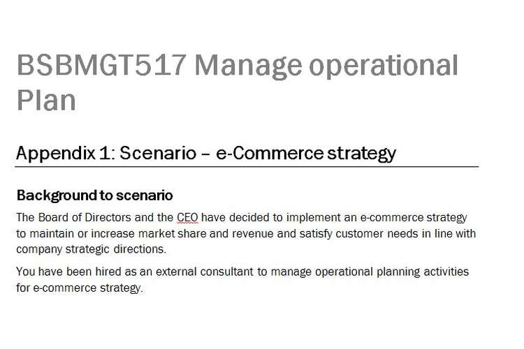 BSBMGT517 Manage Operational Plan Assignment Brief