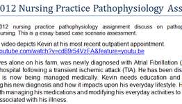 NURBN2012 Nursing Practice Pathophysiology Assignment