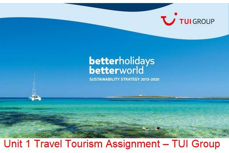 Unit 1 Travel Tourism Assignment – TUI Group