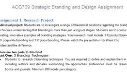 ACG709 Strategic Branding Design Assignment