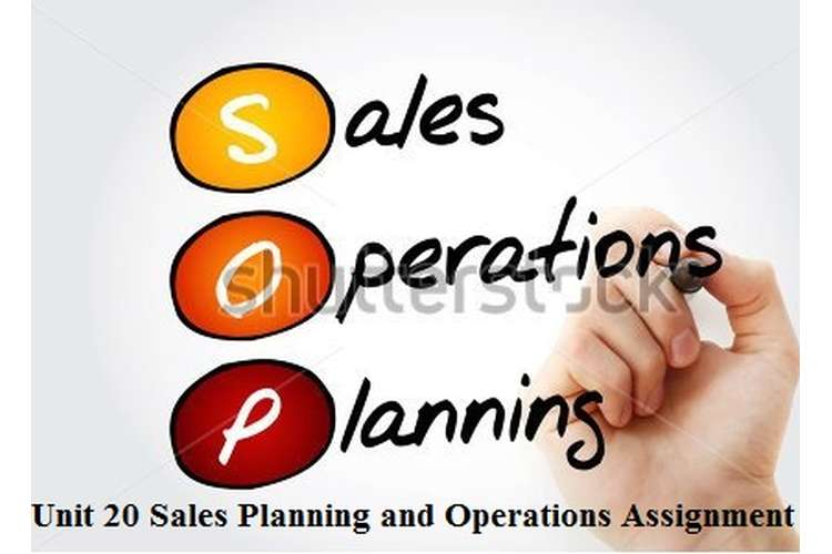 Sales Planning Operations Assignment