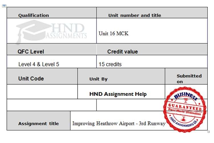 MCKI Assignment Brief