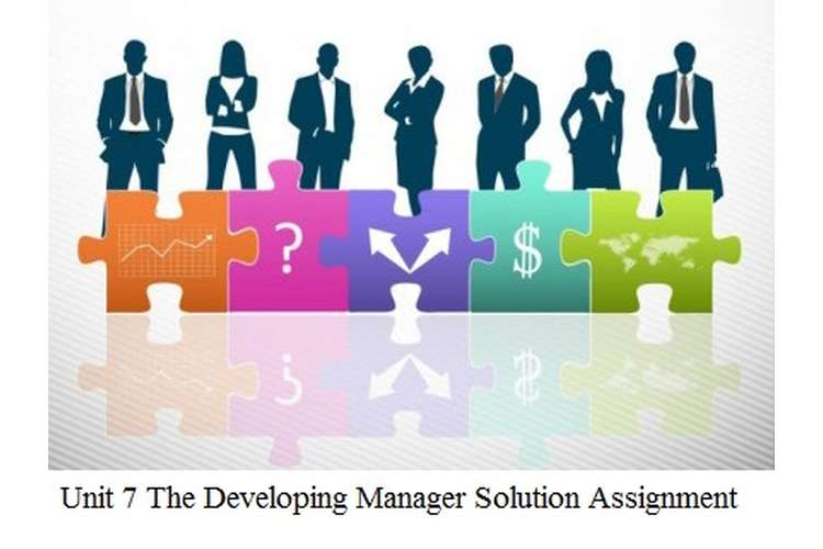 Unit 7 The Developing Manager Assignment Locus