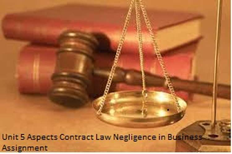 Unit 5 Aspects Contract Law Negligence in Business Assignment Sample