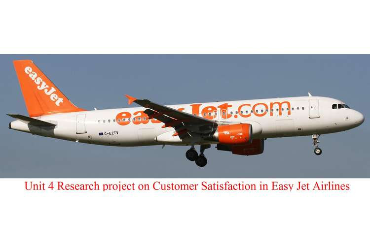 Unit 4 Research project on Customer Satisfaction in Easy Jet Airlines