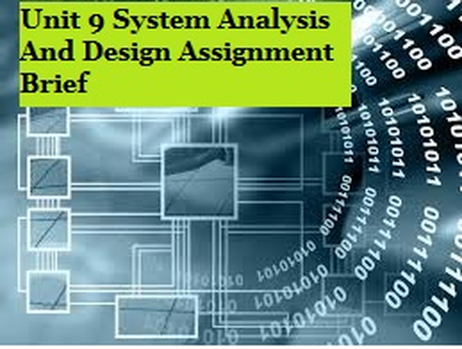 System Analysis Design Assignment Brief