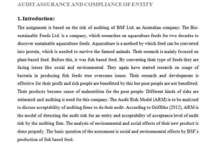 HI6026 Audit Assurance Compliance Assignment Help