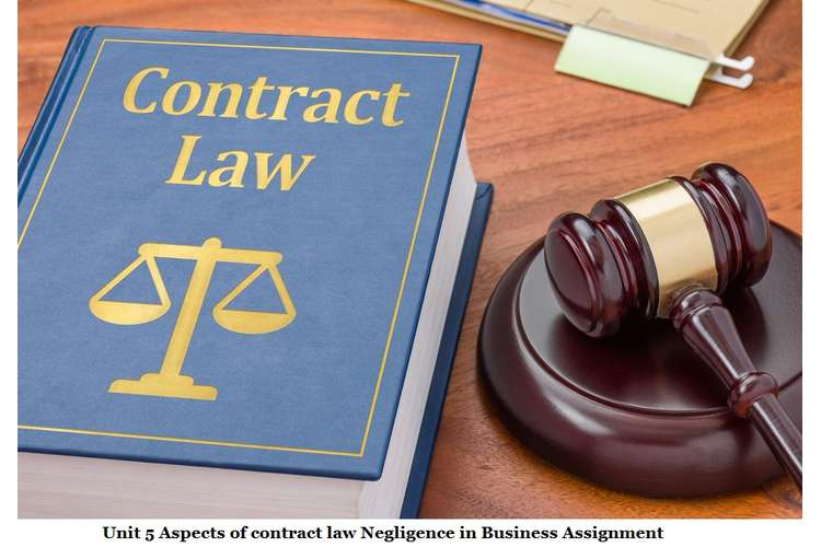 Unit 5 Aspects of Contract Law Negligence in Business Assignment