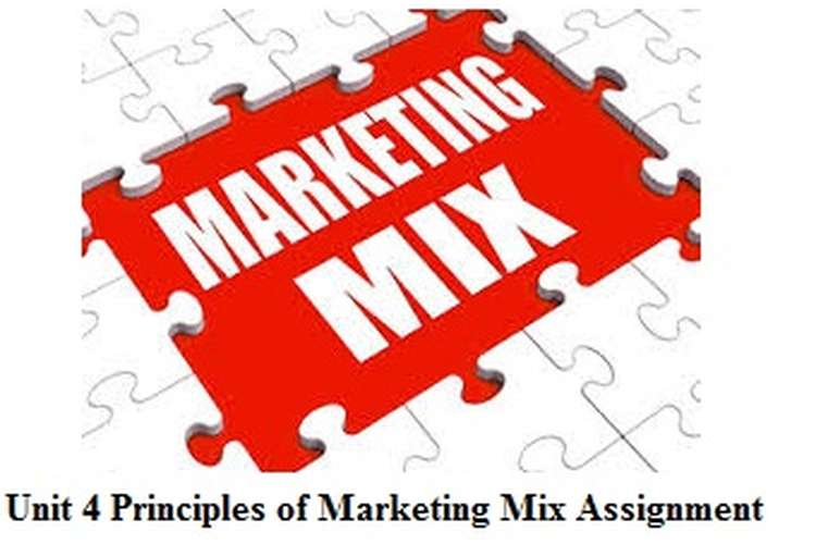 Unit 4 Principles of Marketing Mix Assignment