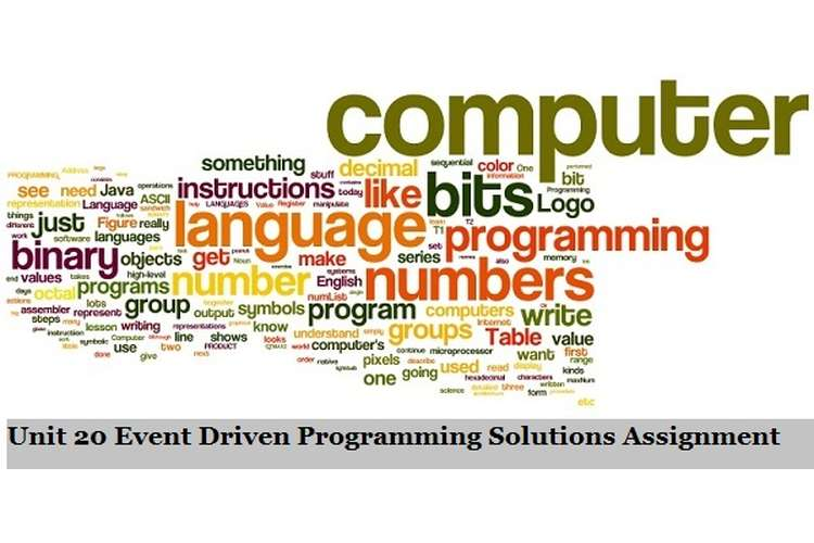 unit 14 event driven programming Unit 14: event driven programming unit code: f/601/7281  this unit allows  learners to become familiar with the underpinning concepts of.