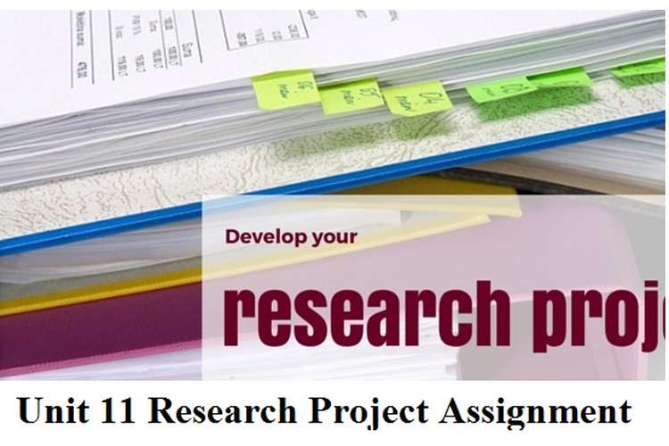 Unit 11 Research Project Assignment Solution