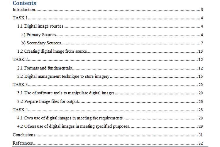 Digital Image Creation & Development