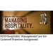 Hospitality Management Law for Licensed Premises Assignment