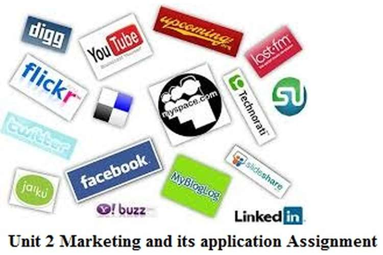 Unit 2 Marketing its application Assignment