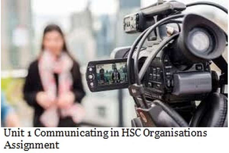 Unit 1 Communicating in HSC Organisations Assignment