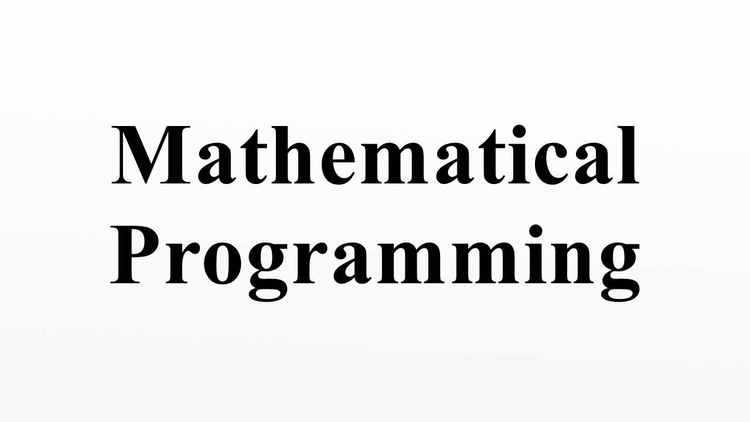 Mathematical Programming Algorithms Assignment