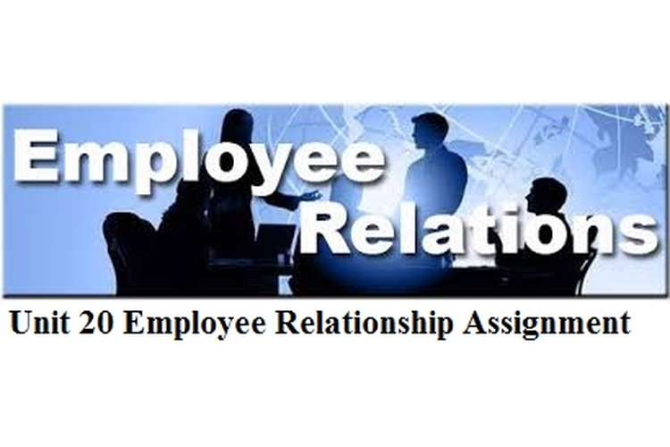 Unit 20 Employee Relationship Assignment