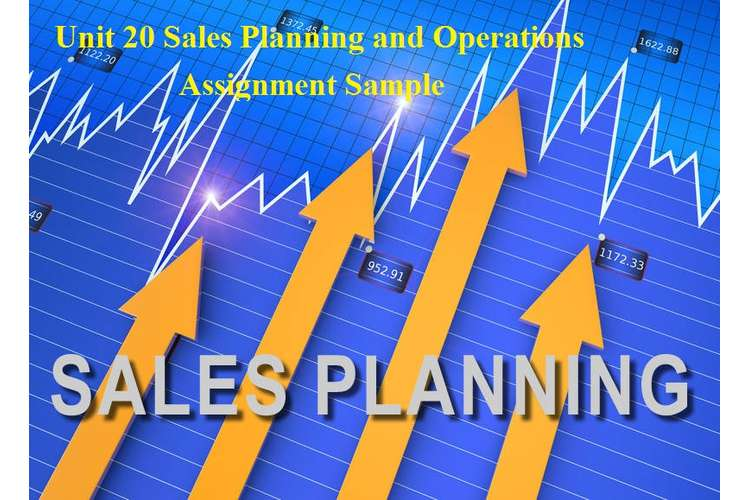 Unit 20 Sales Planning and Operations Assignment Sample