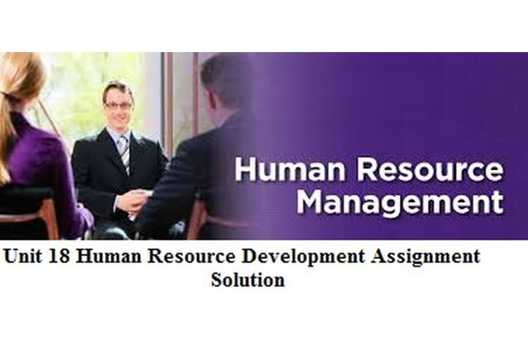 Unit 18 Human Resource Development Assignment Solution